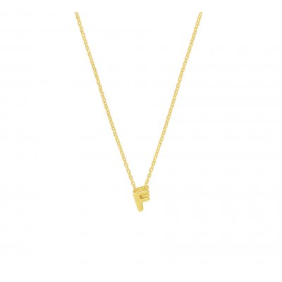 Gouden Letter Collier F