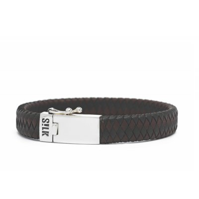 S!lk Bracelet Leather Black/Brown 12mm-21cm