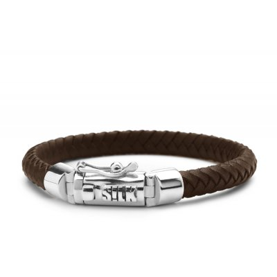 S!lk Bracelet Shiva Brown 6mm-19cm