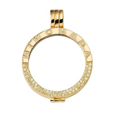 Mi Moneda Pendant Gold Plated M
