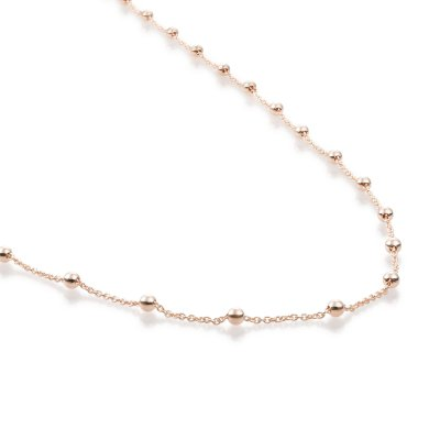 Ball Chain Rose Gold Plated