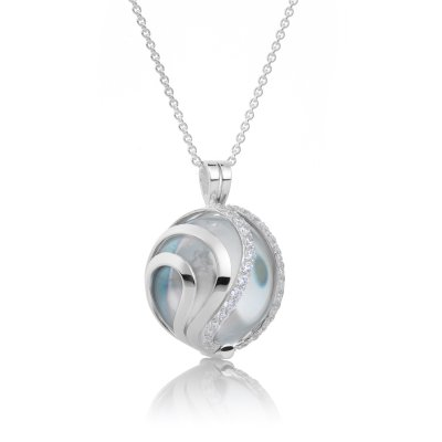 Aurora Crystal Silver Plated Regular